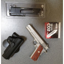pack promo 1911 rail gun MKIV gbb co2 + holster + chargeur long sup + 10 cartouches co2