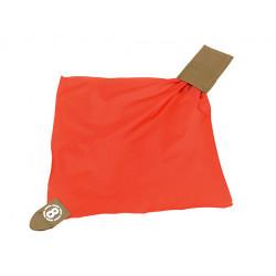 drapeau de touche rouge avec rangement pochette molle tan