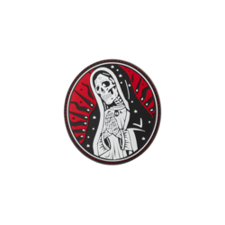 patch velcro pvc santa muerte rouge 27847